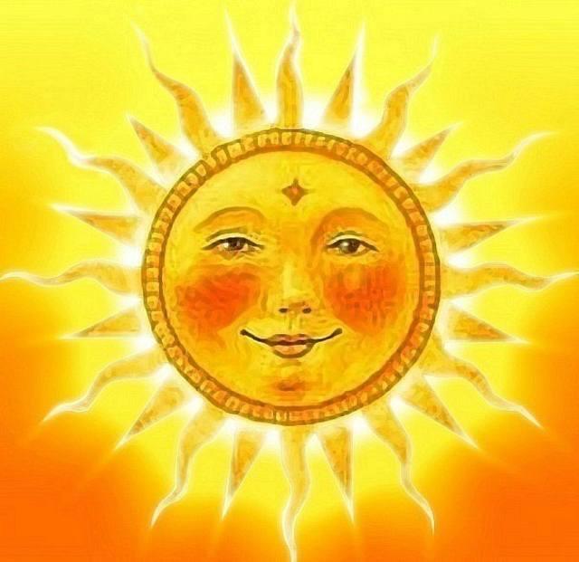 круг, солнце, геометрические фигуры для детей