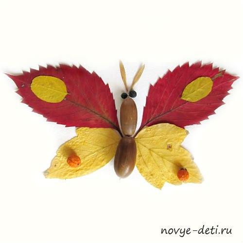 бабочка аппликация для детей