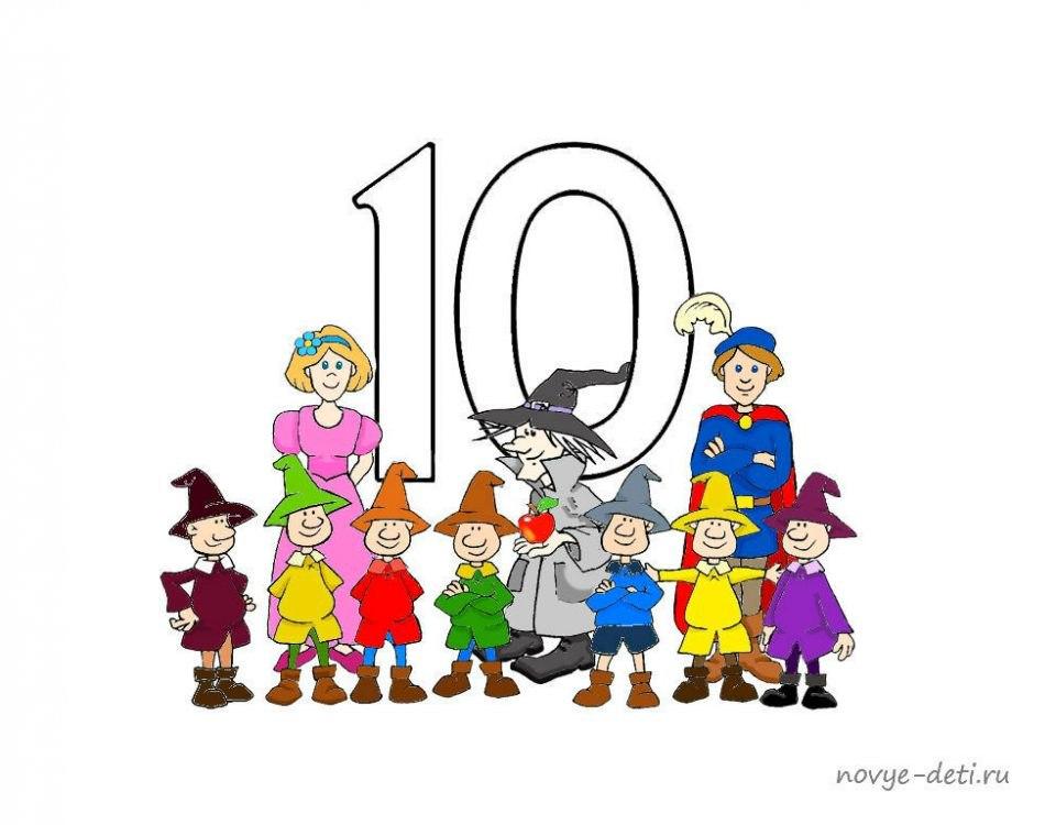 цифры от 1 до 10 для детей цифра 10
