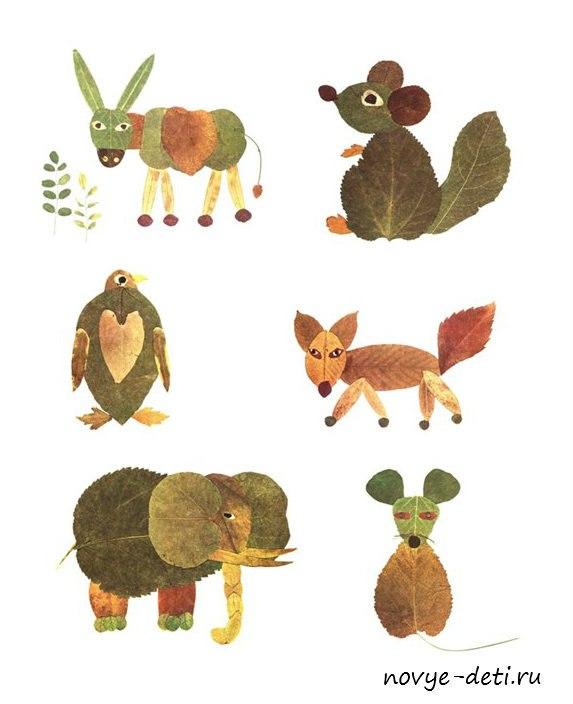 поделки животных из природных материалов