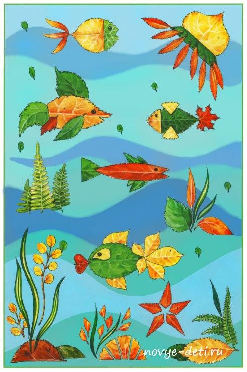 поделки для детей аквариум