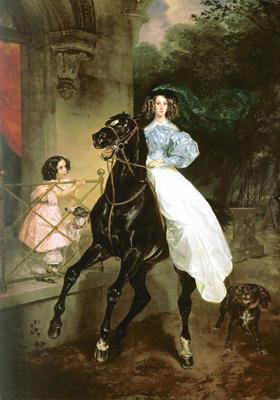 известная картина всадница брюллов