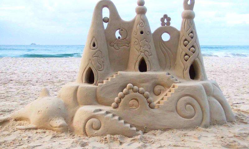 летние игры с песком для детей 2 лет