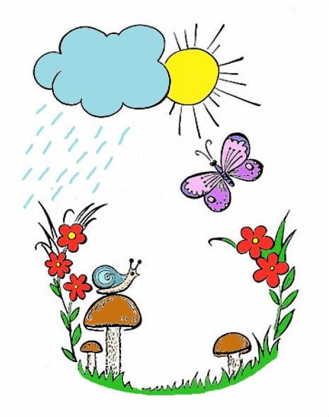детское стихотворение про дождь и капельки