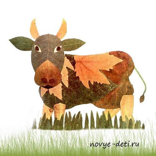 Поделки животных для детей корова