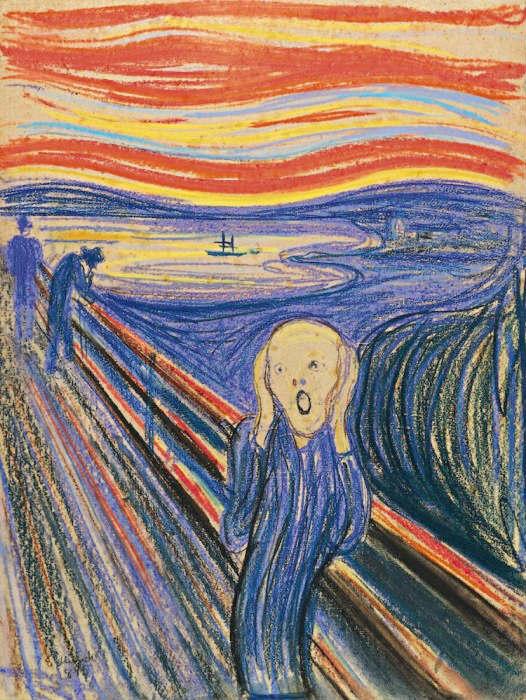 известная картина крик эдвард мунк