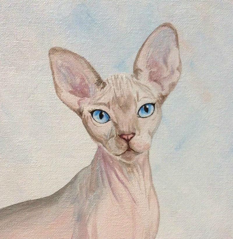 сфинкс кошка картина масло