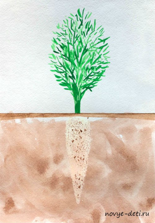 морковь рисование для детей