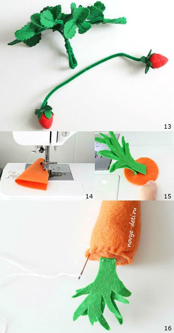 овощи игрушки морковь клубника