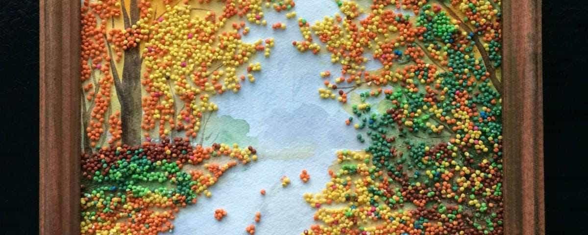 поделки из круп золотая осень