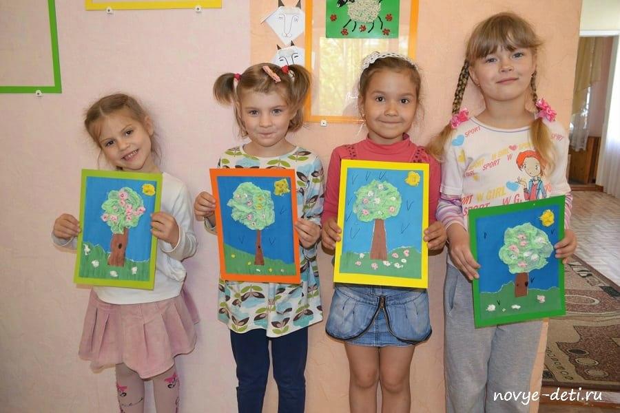цветущее дерево мастер-класс для детей
