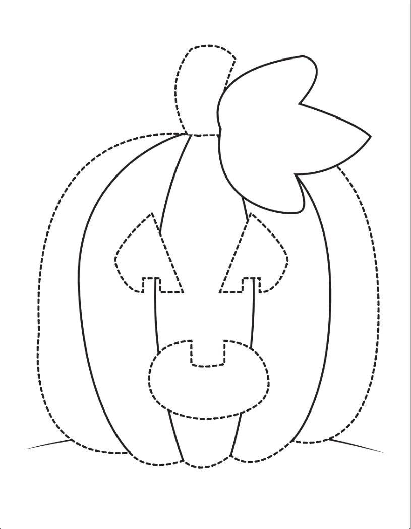 раскраска детская хэллоуин тыква