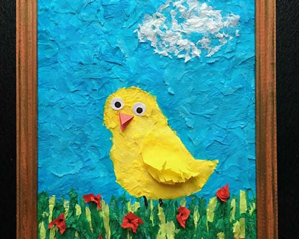 поделка из салфеток в детский сад цыпленок