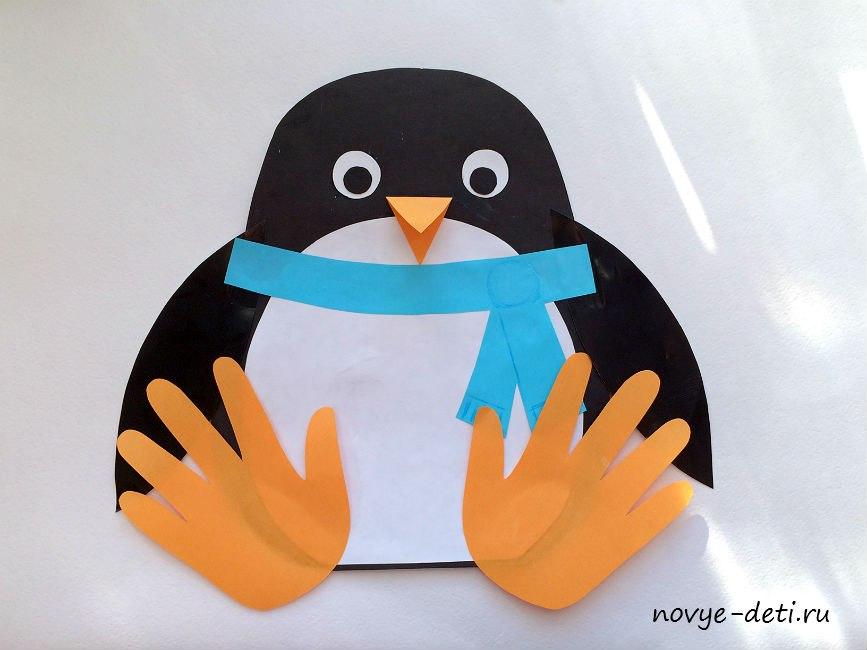 пингвин зимние поделки для детей