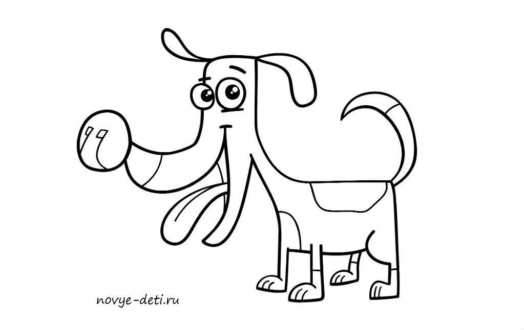 как нарисовать собаку щенка поэтапно карандашом