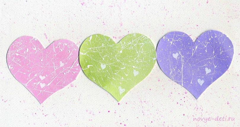 пастель сердечки на день всех влюбленных