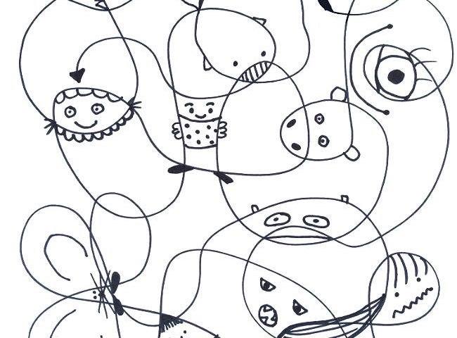 развитие фантазии творчество у детей и взрослых нарисовать сказочных персонажей из линий