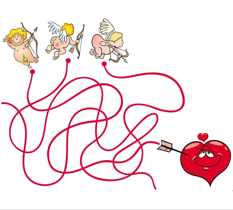 ангелы лабиринт для детей день валентина